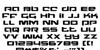 Northstar Regular Font Letters Charmap