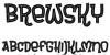 Brewsky Font design typography