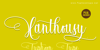 Xanthousy - Personal Use Font poster