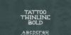 Tattoo Thinline Font design poster