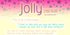 Jolly Font text design