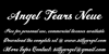 Angel Tears Neue Personal Us Font text typography