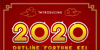 2020 Outline Fortune Kei Font poster