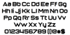 Return of the Grid Font Letters Charmap
