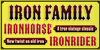 IRON FAMILY Font book poster