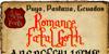 Romance Fatal Goth Font text book