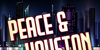 Peace & Houston Font poster