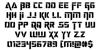 Deceptibots Font Letters Charmap
