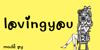 lovingyou Font cartoon graphic