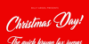 Christmas Day Personal Use Font design text