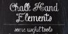 Chalk-hand-lettering-shaded_dem Font text blackboard