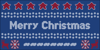Xmas Sweater Stitch Font flag vector graphics