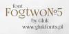 FogtwoNo5 Font design text
