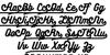 BukhariScript Alternates Font Letters Charmap