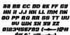 Space Cruiser Italic Font Letters Charmap