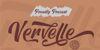 Vervelle Font poster