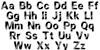Retro New Version Font Letters Charmap