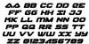 Skyhawk Italic Font Letters Charmap
