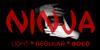 Ninja Demo Font poster carmine