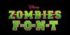 ZOMBIES Font design screenshot