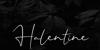 Halentine Font poster