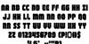Shogunate Font Letters Charmap