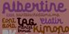 Albertine Font poster handwriting