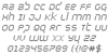 Byte Police Italic Font Letters Charmap