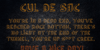 Cul De Sac Font text screenshot