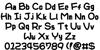 WarioWareMPG Font Letters Charmap