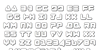 Zealot Outline Font Letters Charmap
