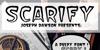 Scarify Font text poster