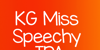 KG Miss Speechy IPA Font design graphic