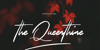 The Queenthine Font text