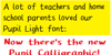 Pupil Caligraphic Font screenshot abstract