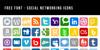 Social Networking Icons Font screenshot internet