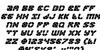 Zoom Runner Italic Font Letters Charmap