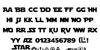 Star Jedi Font Letters Charmap