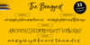 The BraggestDemo Font screenshot handwriting