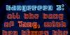 Tangereen 3 Font screenshot