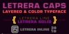 Letrera Caps Inline Font screenshot design