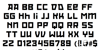 RedOctober Font Letters Charmap