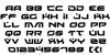 Battlefield Font Letters Charmap