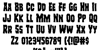Freakfinder Font Letters Charmap