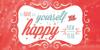 Merry Christmas Font poster design