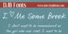 DJB I Love Me Some Brook Font text handwriting