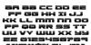 Speed Phreak Font Letters Charmap