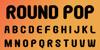 Round Pop Font poster