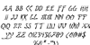 Bushido Italic Font Letters Charmap