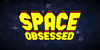Space Obsessed Font design cartoon
